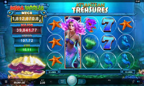 Atlantean Treasures Mega Moolah Slot Game