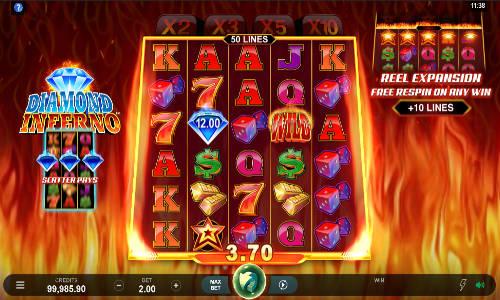 diamond inferno slot screen