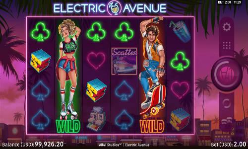 electric avenue slot screen