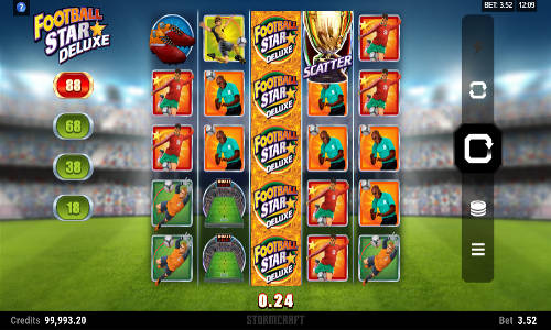 football star deluxe slot screen