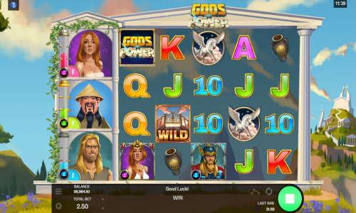 gods of power slot screen