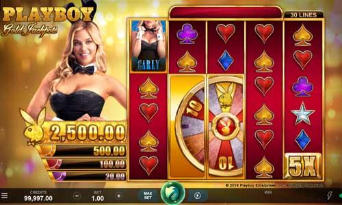 playboy gold jackpots slot screen