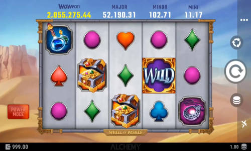 wheel of wishes slot screen