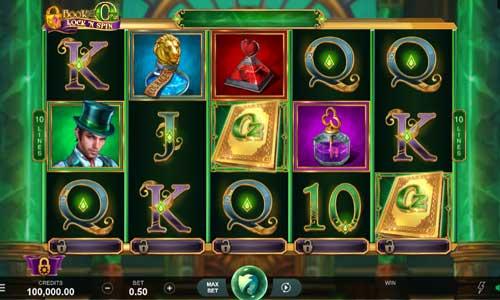 book of oz lock n spin slot screen 1
