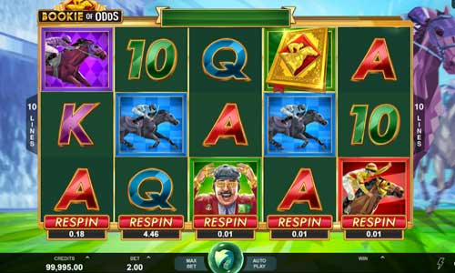 bookie of odds slot screen