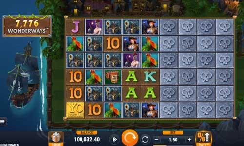 boom pirates slot screen
