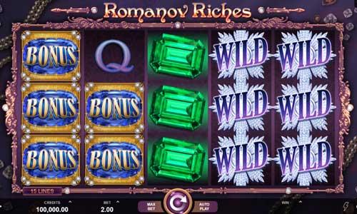 romanov riches slot screen