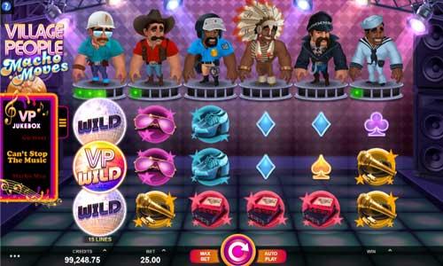 village people macho moves slot screen