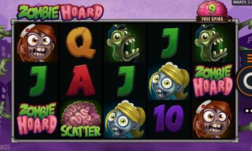 zombie hoard slot screen
